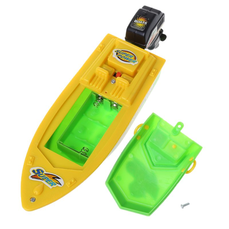 High Speed Electric Boat Plastic Launch Children RC Toys Speedboat Water Play Gift For Kids 95AE