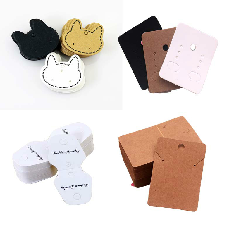 100pcs/lot Cat Rectangle Earring Paper OPP Bag Display Jewelry Brooch Pendant Necklace Bracelet Rings Hair Gifts Display Cards