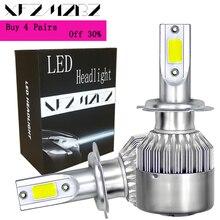 цена на XFZMZBZ C6  Led Car Light H7 H11 H1 H4 9005 9006 36w 6000k 3800Lm Led COB Headlight AUTO Car Lamp