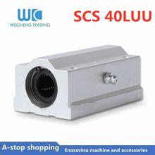 1PC 1pc SC40LUU 40 milímetros Linear Ball Bearing Bloco de CNC Router CNC para impressora 3D eixos parte da Haste