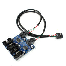 XT-XINTE placa-mãe 9pin usb divisor de cabeçalho macho 1 a 2/4 fêmea cabo de extensão adaptador de desktop 9 pinos usb2.0 hub conector