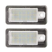 2x18 LED światło do tablicy rejestracyjnej lampy dla Audi A3 S3 A4 S4 B6 A6 S6 A8 S8 Q7