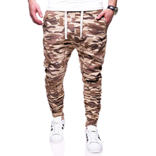 sale clothing/ pants Hot men camouflage pant men's loose casual trousers(China)