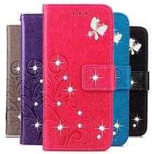Do etui Ulefone S10 Pro etui z klapką do Ulefone S10 Pro Bling 3D róża diamentowa wytłoczony wzór portfel ze skóry PU obudowa z podstawką tanie tanio AMICOO Colorfull Embossed PU Leather Wallet Flip Style With Card Holder Case for Ulefone inch Brokat Floral Klejnotami Zwierząt