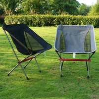 Portable Camping Folding Chair Aluminum Alloy Non slip Moon Stool Outdoor Encampment Beach Fishing Chairs Picnic Equipment Bench