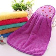 Микрофибра супер впитывающее кухонное полотенце для рук случайные