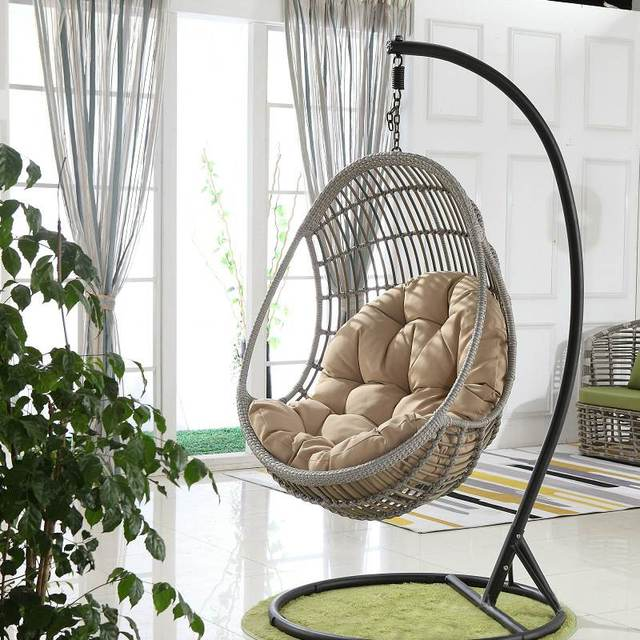 Egg Chair Swing Hammock Cushion Hanging Basket Cradle Rocking Chair Cushion Garden Outdoor Indoor Home Decor No Swing Chair