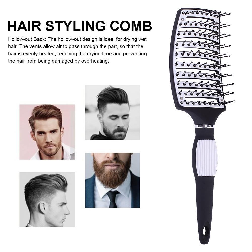 New Hair Brushes Curved Vented Styling Hair Brush Detangling Thick Hair Massage Blow Drying Brush Massage Hair Comb 4