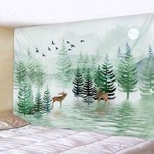 Скандинавский Малый лес гобелен светящийся психоделический настенный