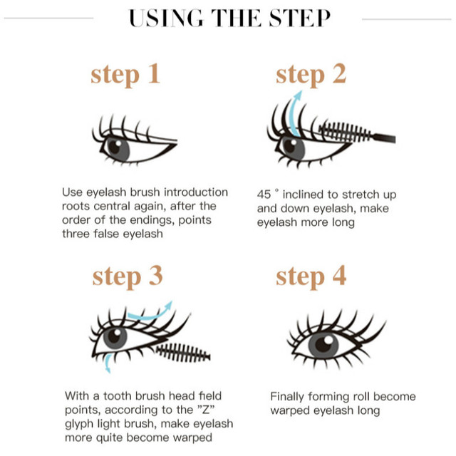 New 4d Fiber Lash Mascara Waterproof Black Eye Silk Eyelashes Mascara Lengthening Volume 3d Sexy Pudaier Eyebrow Makeup Mascara 4