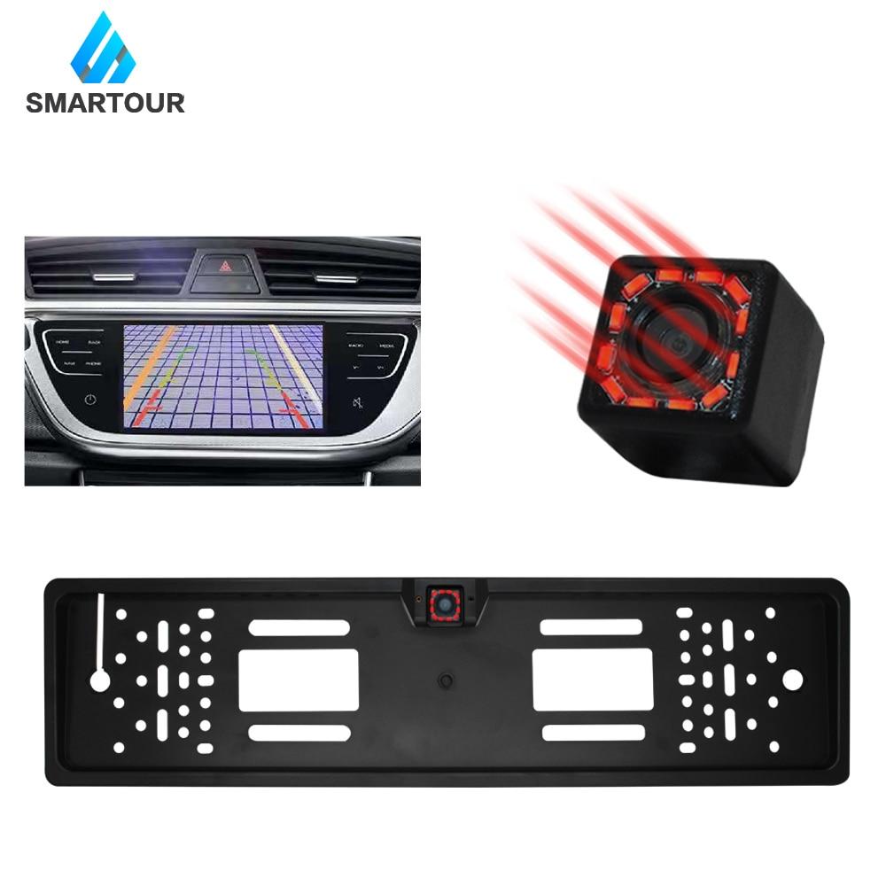 Smartour Car Rear View Camera Night Vision Wide Angle HD Color Image Waterproof Universal Backup Parking Reverse Camera