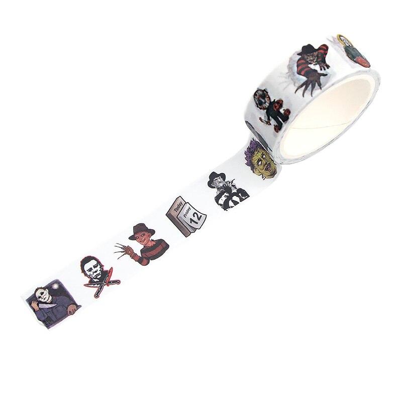 CA333 четыре убийцы ужас васи клейкая лента DIY декоративная наклейка Скрапбукинг дневник маскирующая лента стикер для канцелярских товаров