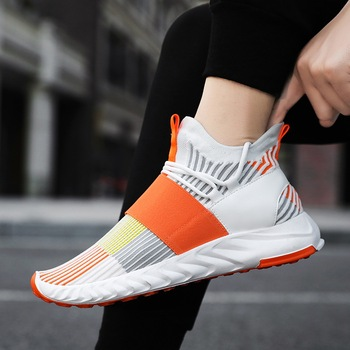 2020 New Men Sports Shoes Mesh Athletic Shoes Sneakers Breathable Running Shoes Lightweight Men Lace-Up Cushioning Outdoor Shoes men women running shoes classic mesh breathable lightweight sports sneakers athletic trainers