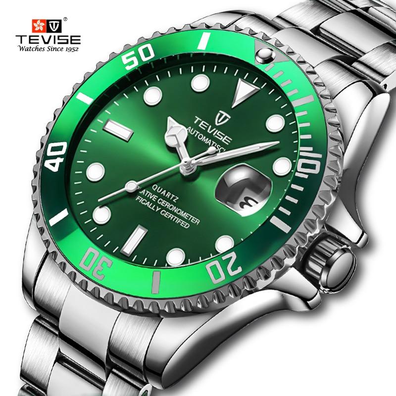 TEVISE Luxury Quartz Men Watch Calendar Waterproof Watches Business Man Wrist Watch Stainless Steel Mens Watches relojo mascuino Quartz Watches    - AliExpress
