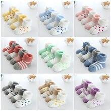 Chaussettes épaisses en éponge pour nouveau-né de 0 à 24 mois, chaussettes chaudes d'hiver pour nourrissons, filles et garçons, 2020 et nouveauté