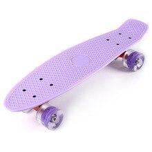 Deck Wheels Skate-Board Cruiser Aluminum-Bracket Banana-Style Led-Flashing with 22-Inches
