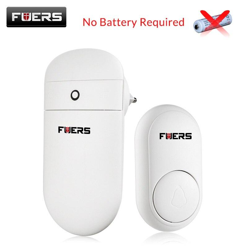 FUERS Wireless Door Bell Self Generation Doorbell Home Smart Long Distance No Need Battery Cordless Doorbell With 52 Melodies