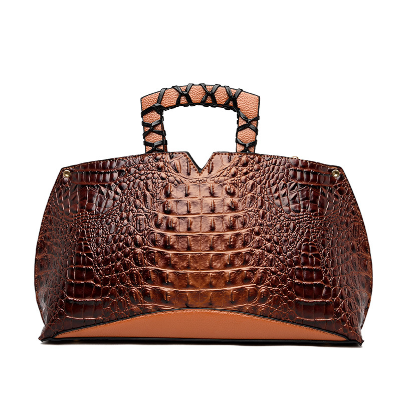 Luxury Handbags Women Bags Designer Crocodile Pattern Tote Bag Ladies PU Leather Large Capacity Shopping Shoulder Bag Sac A Main