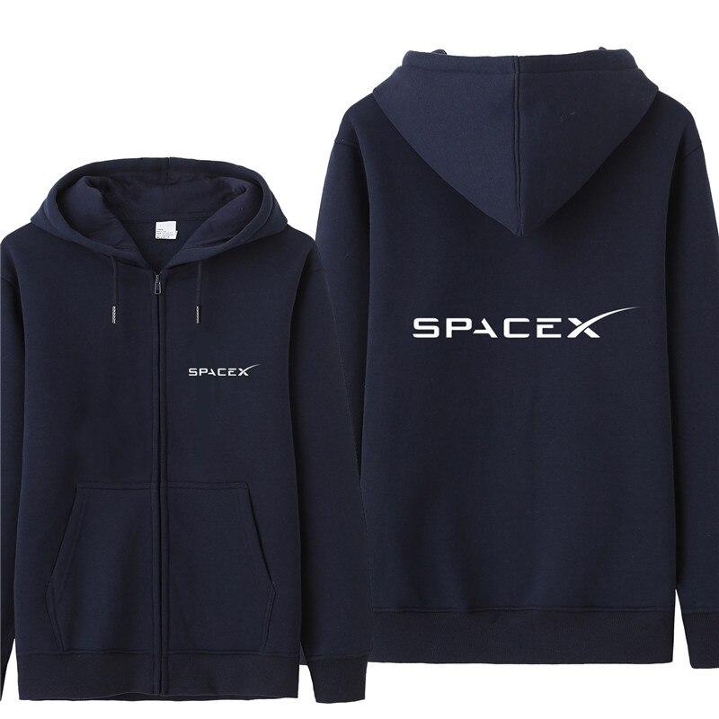 Space X Sweatshirt Hoodies Men Autumn Coat Pullover Fleece Jacket Unisex Man Space X Sweatshirts HS-063