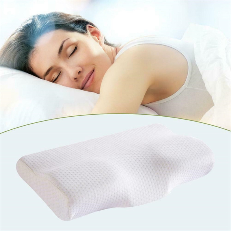 Visco Memory Foam Neck Pillow No Smell Slow Rebound Health Protect Cervical Neck Care For Adults Teens Bedding Pillows 50*30*11