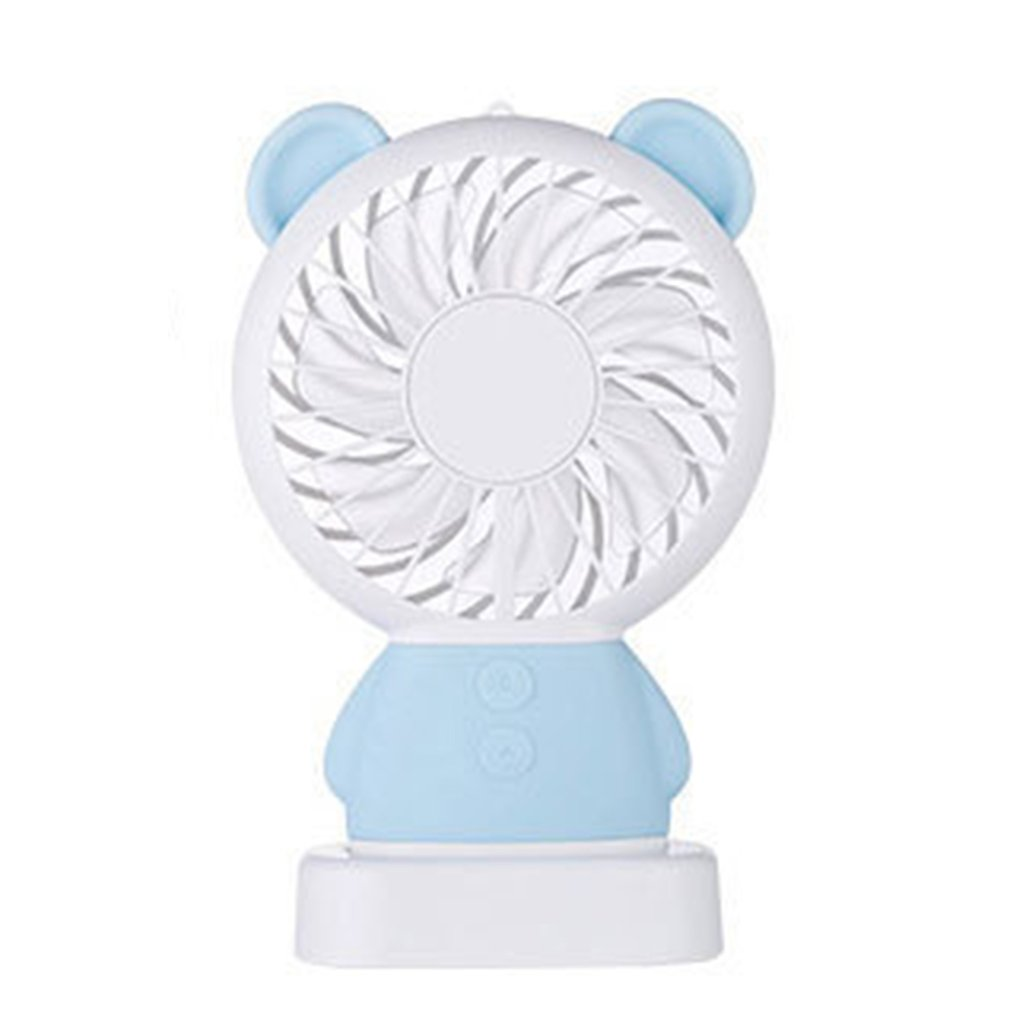 Creative Usb Charging Small Fan Led Handheld Portable Mini Charging Colorful Night Light Student Fan