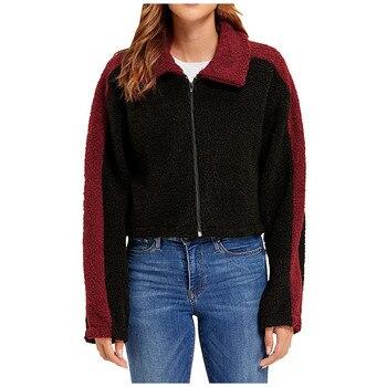 Women Jacket Women Winter Fashion Womens Patchwork Cashmere Long Sleeve Short Coat Lapel Design Jacket Women Winter Jacket #40%
