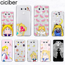 Ciciber untuk LG G7 G6 V40 G8 V50 K12 K11 K10 K9 K50 K40 K8 K4 V35 V30 v30s V20 Plus Thinq 2017 2018 Sailor Moon Case(China)