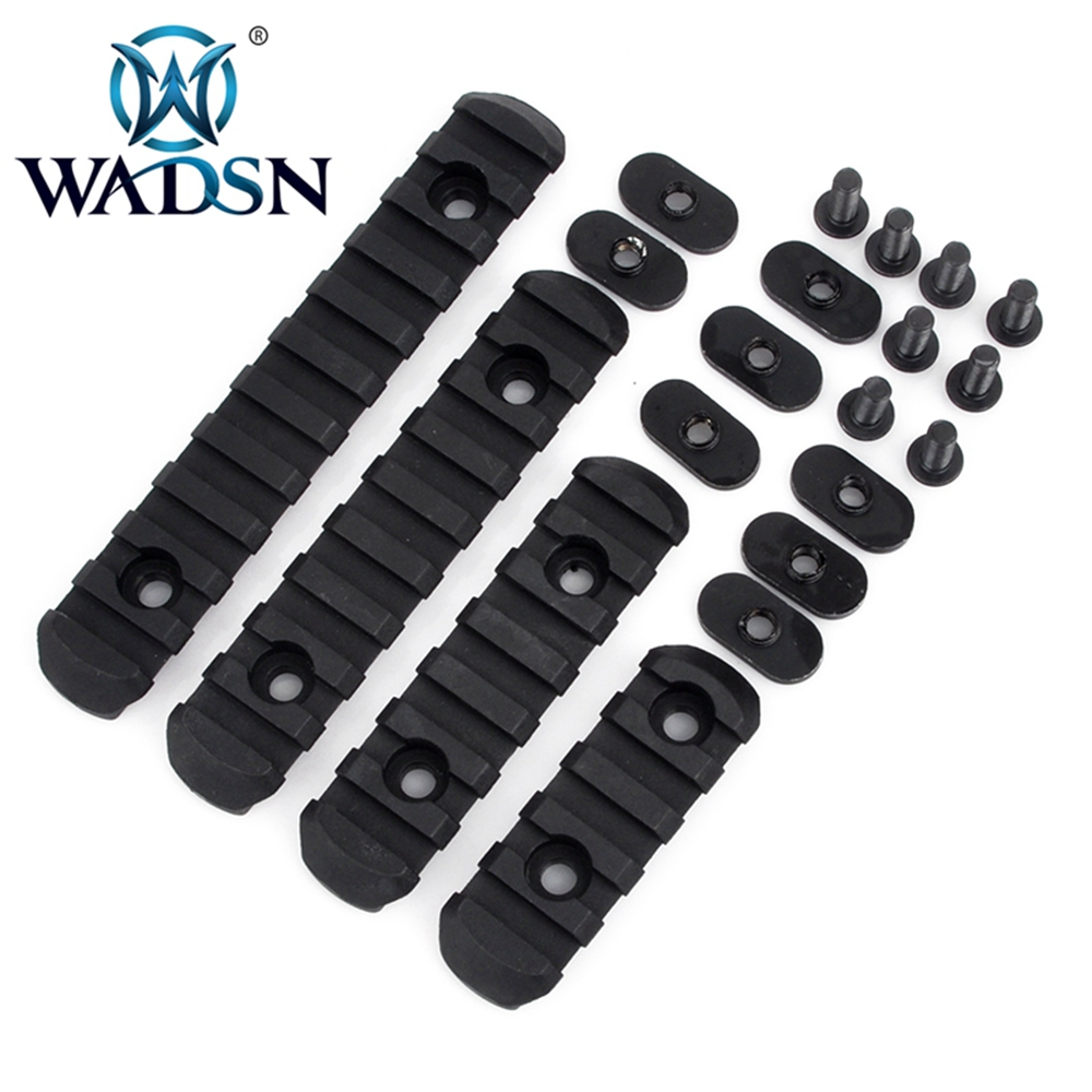 WADSN Tactical MP MOE Polymer Picatinny Rail Sections Kit 5/7/9 /11 Slots <font><b>AR</b></font> <font><b>15</b></font> Rifle <font><b>Handguard</b></font> 20mm Rails Set Hunting Accessory image