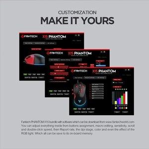 Image 5 - FANTECH X15 Optische USB Gaming Maus Einstellbar 4800 DPI 7D Makro RGB Gaming Maus Für FPS LOL Spiel Maus PC