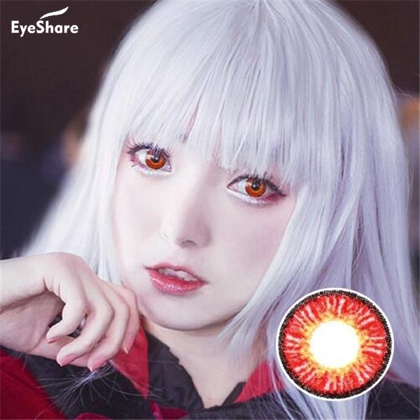 EYESHARE 1 Pair (2pcs)  IceSnow Coloured Contact Lenses for Eyes Cosmetic Contact Lenses  Eye Color Halloween Contacts 3