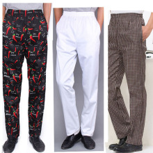 9 цветов, униформа шеф-повара, рабочая одежда, кухонные полосатые брюки, дышащие рабочие штаны с эластичной резинкой на талии для шеф-повара, Нарядные Костюмы