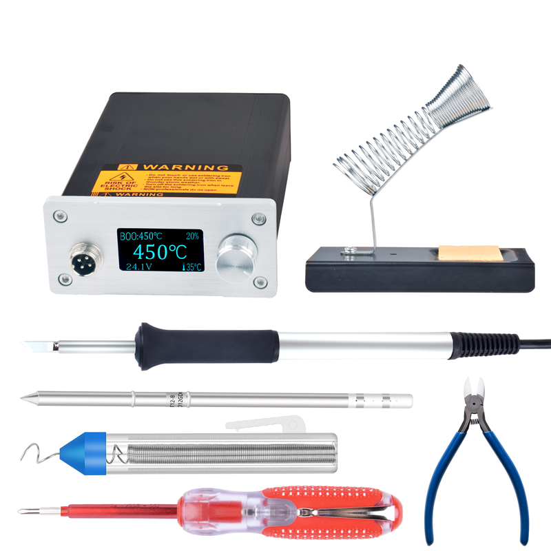 OLED 1.3inch T12 Soldering Digital Station Electronic Soldering Iron Soldering Statio Rework Metal Handle With Soldering Iron