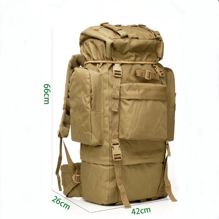 Production Manufacturers Mountain Climbing Outdoor Backpack Profession Hiking Mountain Climbing Bag Large Capacity 65L Large Bag