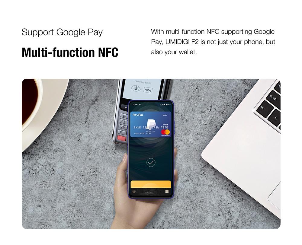 "H1d5c91f762fa4770a4e24a408fc2335ed Pre-sale UMIDIGI F2 Android 10 Global Version 6.53""FHD+6GB 128GB 48MP AI Quad Camera 32MP Selfie Helio P70 Cellphone 5150mAh NFC"