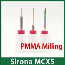 Sirona MCX5 نهاية طحن ل PMMA ، نظرة خاطفة ، الشمع طحن