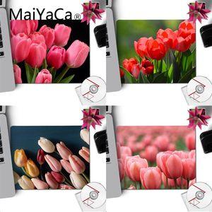 MaiYaCa винтажные классные цветы тюльпаны компьютерные игровые коврики коврик для мыши Гладкий блокнот для письма настольные компьютеры мат и...