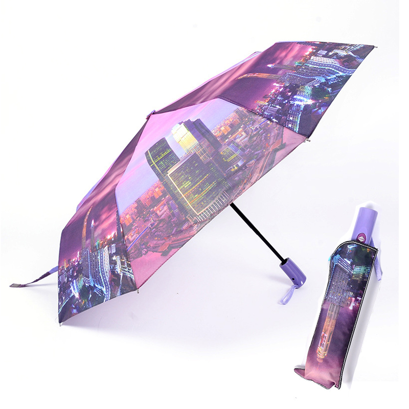 Scenery Painting Umbrella Windproof Folding Umbrellas Rain Gear Umbrella For Men And Women Rain For Woman Man кари Kari