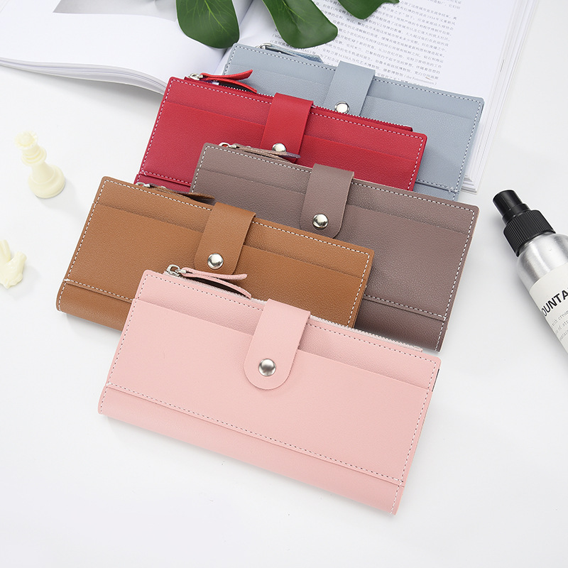 Women's Wallet Long  Leather Wallet  Hasp Cartera Mujer Hot Sale Carteira Feminina Ladies Card Bag 2019 Female Teenage Pocket