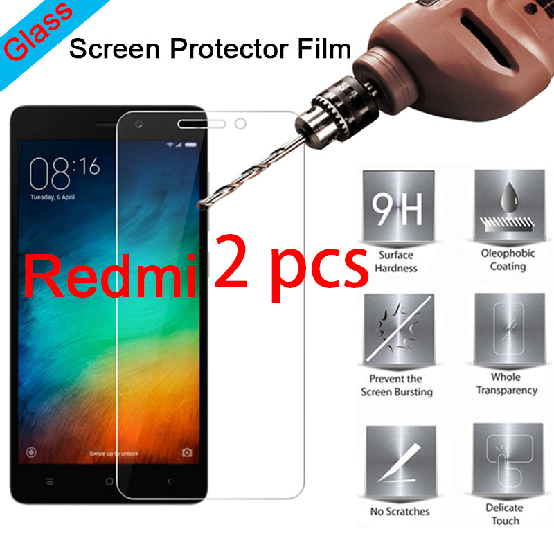 2pcs 9H HD Protective Glass Screen Protector For Redmi 7 6 Pro 5 Plus Hard Toughed Tempered Glass For Xiaomi Redmi 6A 5A 4A 4X