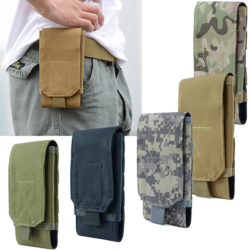 Outdoor Tactical Bag Camouflage Army Bag Mobile Phone Sport Waist Belt Waterproof Nylon Hunting Camo Military Bags In Backpack