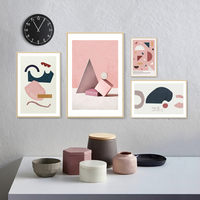 Casual Geometry Wall Prints Cuadros Vintage Paintings For Living Room Wall Wall Pictures Baby Kids Room Decor