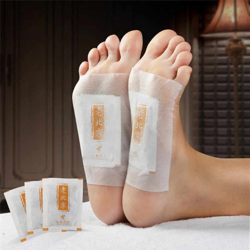 10pcs/bag Ginger Revitalizing Detox Foot Patch Pads Body Toxins Feet Slimming Cleansing HerbalAdhesive reduces pains & tiredness