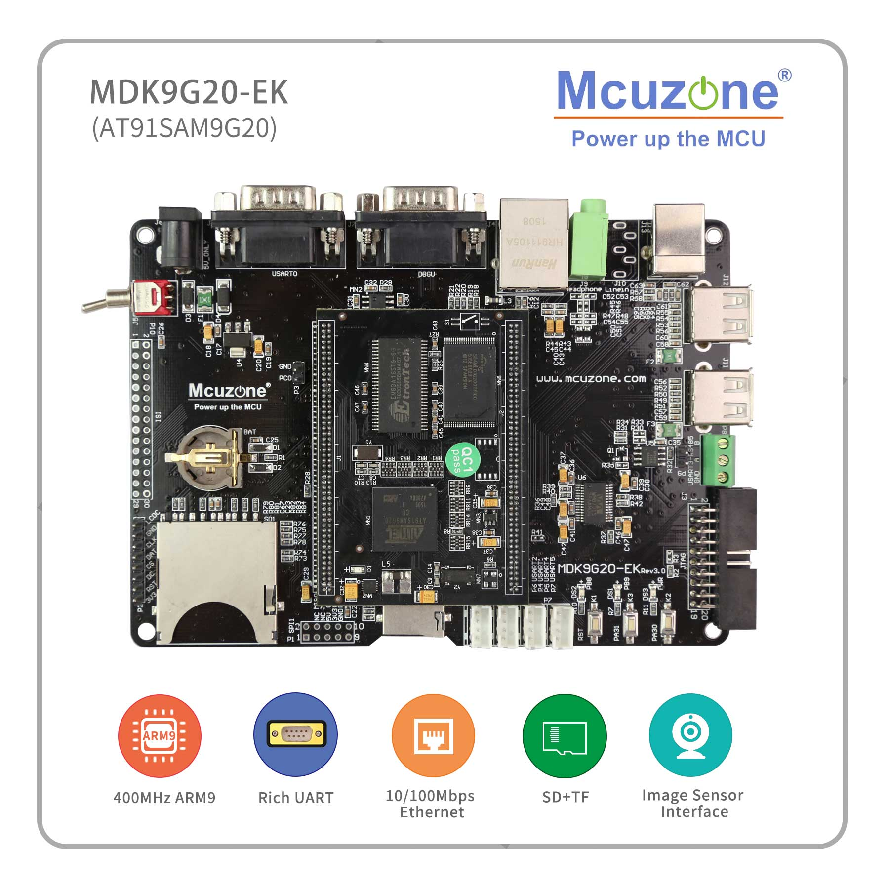 MDK9G20-EK AT91SAM9G20 ARM9 development kit ,ATMEL MCIROCHIP 400MHz sam9g20 9G20 Remote Controlle free shipping IoT GateWay
