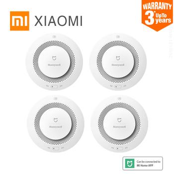 Xiaomi Mijia alarm dymu Honeywell Alarm pożarowy czujnik dymu działa z wielofunkcyjną bramą do podłączenia Mi Home APP tanie i dobre opinie JTYJ-GD-01LM BW Czujka dymu