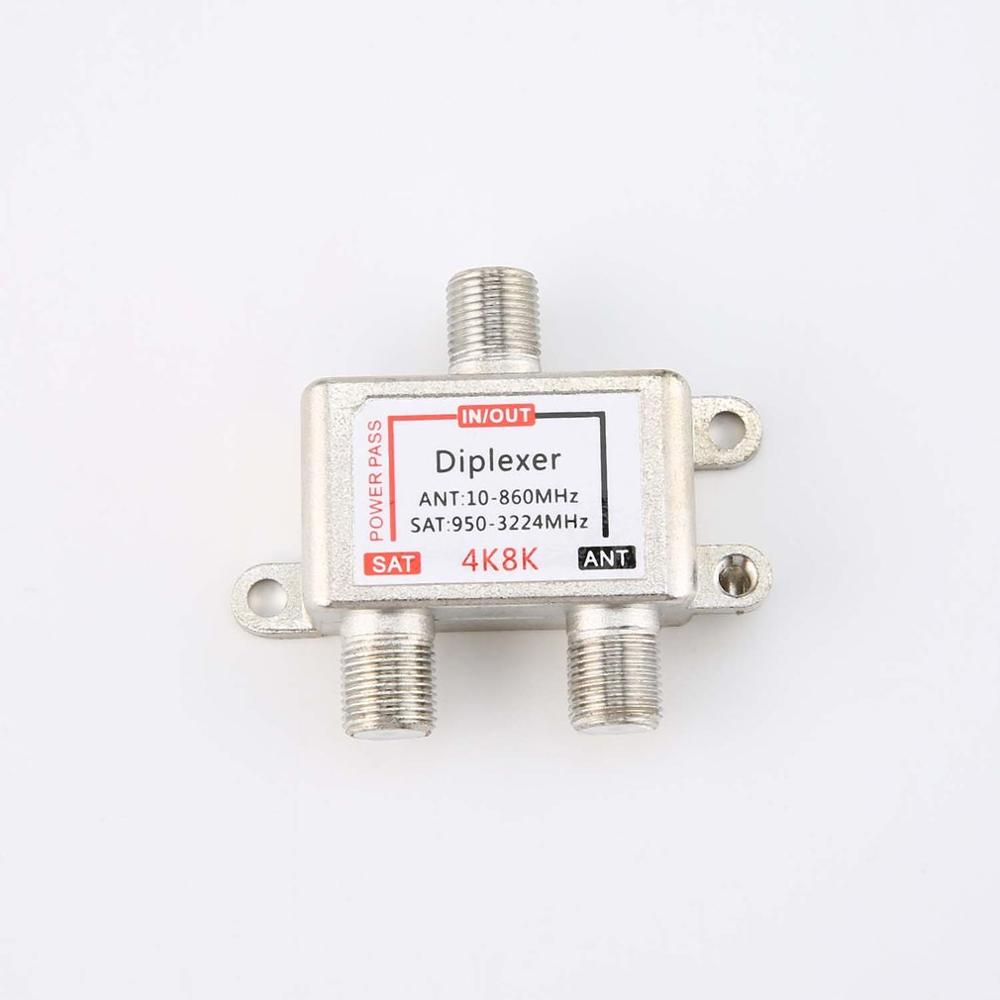 4K8K SAT/ANT Diplexer 10-3224MHz Cable And Satellite TV Signal Hybrid Splitter Satellite Separation And RF Signals