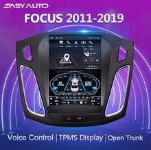 Dla 2011 2019 Ford Focus Car Radio multimedialny odtwarzacz wideo nawigacja GPS z tylną kamerą/sterowanie głosem/Bluetooth/WIFI/Carplay