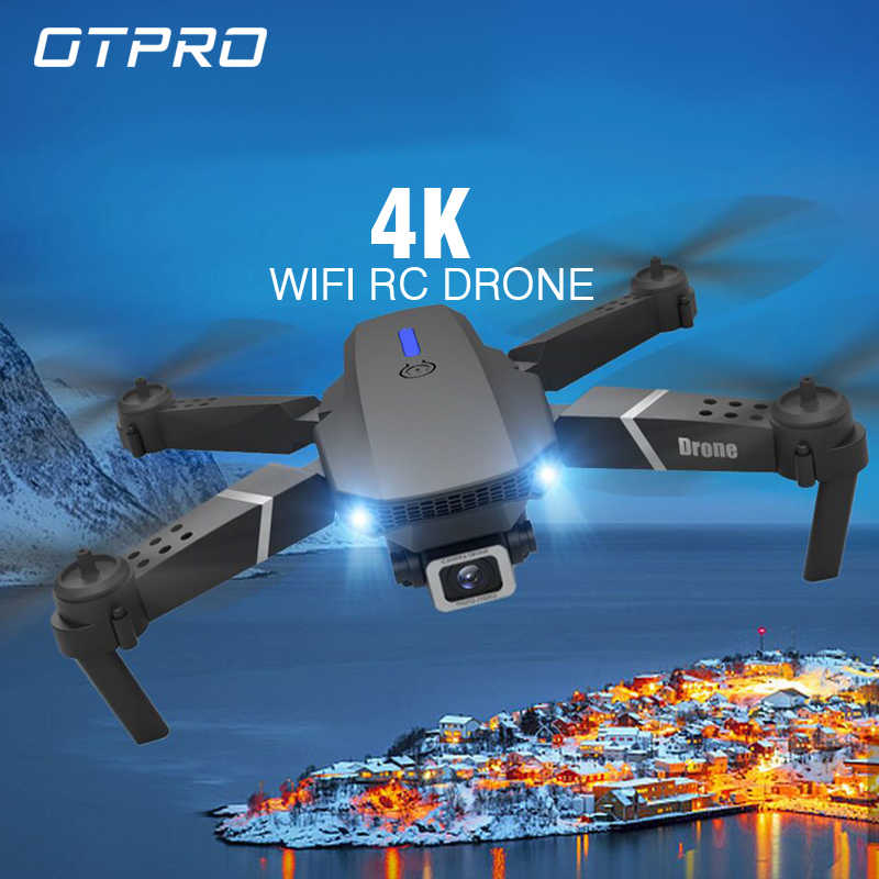 OTPRO 2020 new WIFI FPV drone with wide-angle HD 4K 1080P camera height maintaining RC foldable quadrotor dron gift toy VS  E525