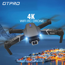 OTPRO 2020 new WIFI FPV drone with wide-angle HD 4K 1080P camera height maintaining RC foldable quadrotor dron gift toy VS E525(China)
