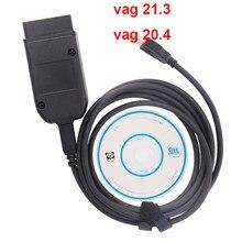 Vag com 21.3 interface hex v2 vagcom 20.4 ferramenta de diagnóstico para vw audi skoda assento multi-linguagem atmega162 + 16v8 + ft232rq