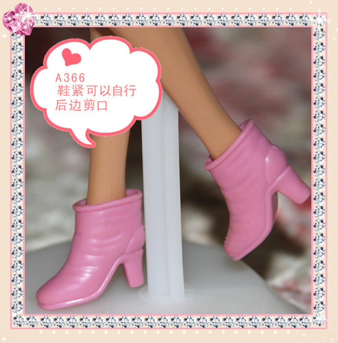 1/6 Doll Shoes Mix style High Heels Sandals Boots Colorful Assorted Shoes Accessories For Barbie Doll Baby Xmas DIY Toy 15